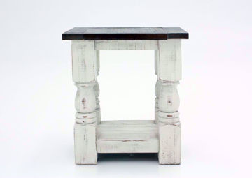 White Two-Tone Martha Chairside End Table Facing Front | Home Furniture Plus Mattress