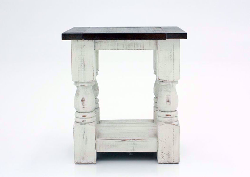 Martha Chairside End Table White Home Furniture Plus Bedding