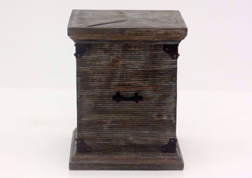 Barnwood Brown Carson Storage End Table, Front Facing | Home Furniture Plus Bedding