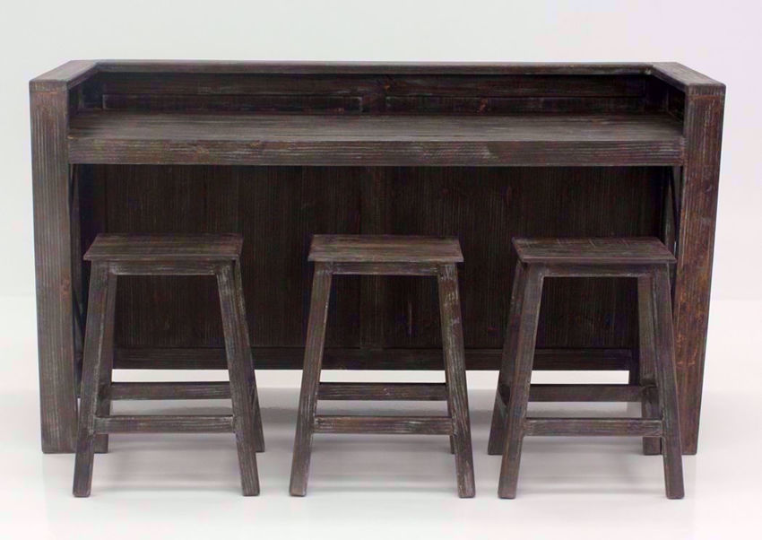 Rustic Brown Shane Bar Dining Table Set Facing Front | Home Furniture Plus Bedding