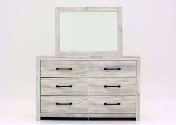 Whitewash White Cambeck Dresser with Mirror by Ashley Furniture Facing Front | Home Furniture Plus Mattress