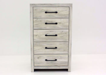 Rustic White Cambeck Chest of Drawers by Ashley Furniture, Front Facing | Home Furniture Plus Mattress