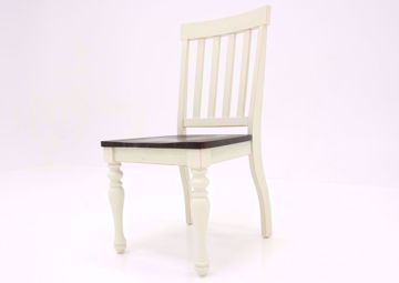 Ivory White Joanna Side Chair at an Angle | Home Furniture Plus Mattress