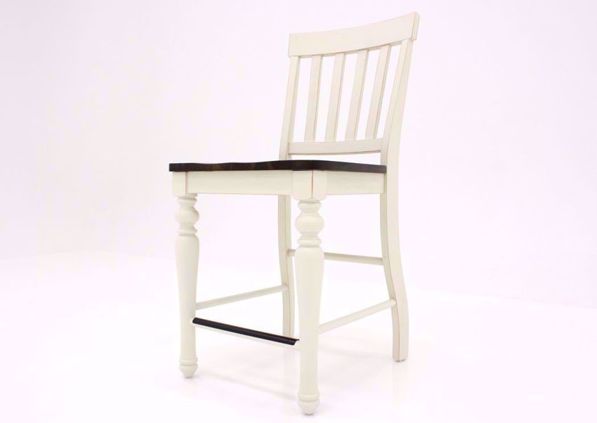 Ivory White Joanna Barstool by Steve Silver at an Angle | Home Furniture Plus Mattress