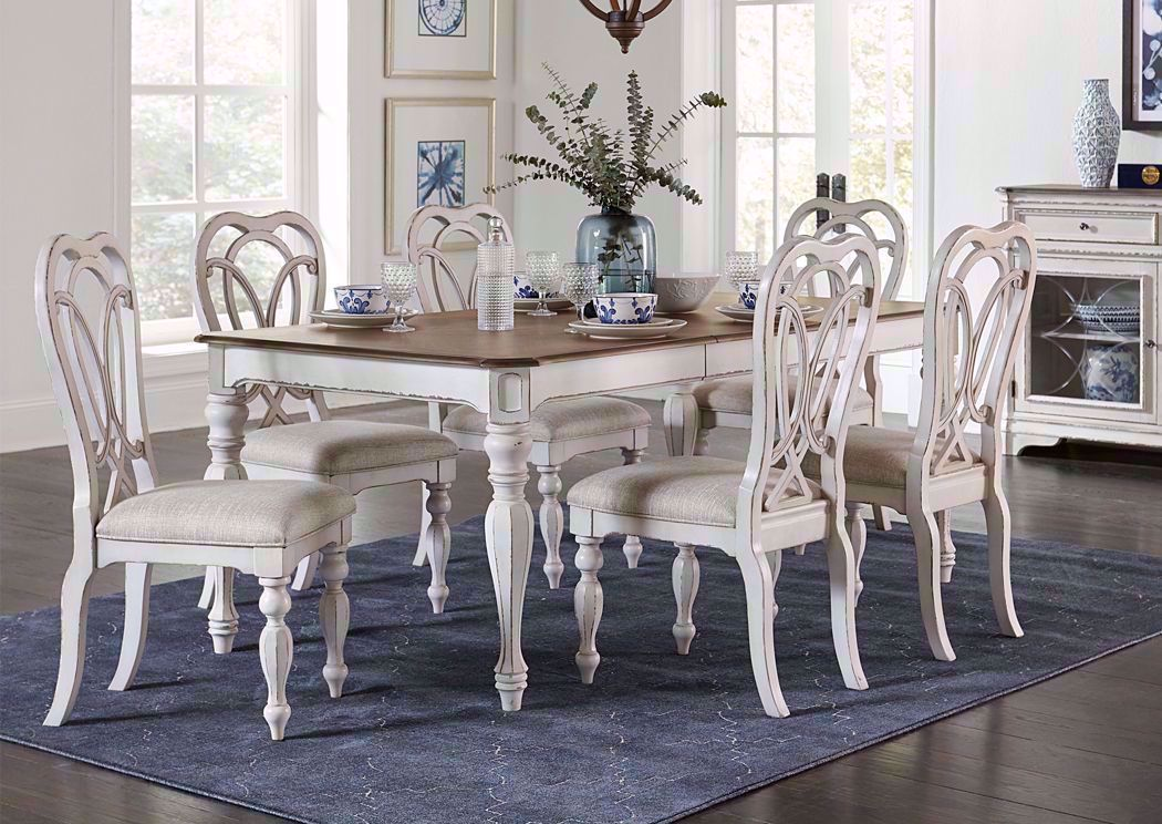 Giovanni Dining Table Set White Home Furniture Plus Bedding