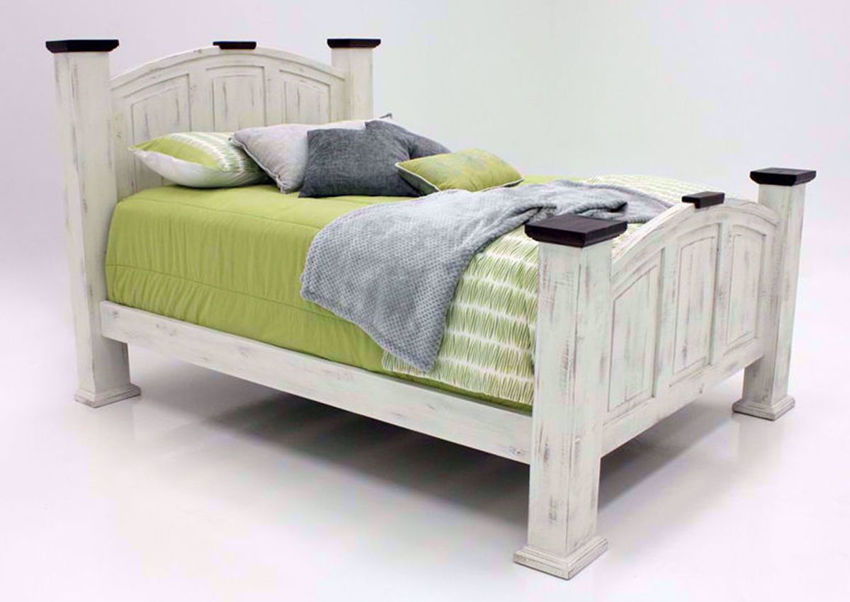 Picture of Mansion Queen Size Bed - White