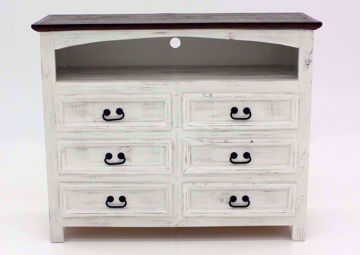 White Mansion TV or Media Chest of Drawers, Front Facing | Home Furniture Plus Mattress