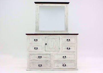 White Mansion Dresser with Mirror, Front Facing | Home Furniture Plus Mattress