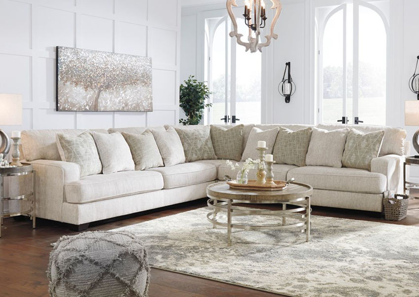 Rawcliffe Sectional Sofa Off White