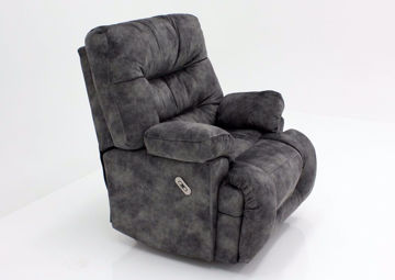 Gray Boss POWER Rocker Recliner at an Angle | Home Furniture Plus Mattress