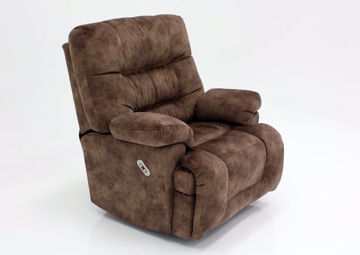 Light Brown Boss POWER Rocker Recliner at an Angle | Home Furniture Plus Mattress
