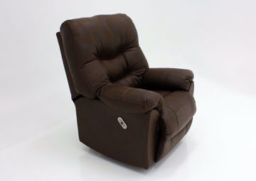 Dark Brown Marshall POWER Rocker Recliner at an Angle | Home Furniture Plus Bedding