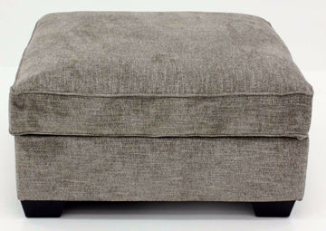 Brown Upholstered Bovarian Storage Ottoman by Ashley Furniture | Home Furniture Plus Bedding
