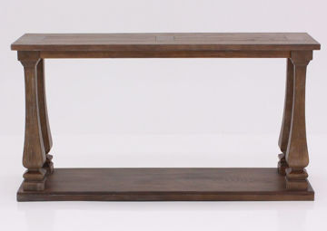 Johnelle Console/Sofa Table by Ashley Furniture with a Weathered Gray and Brown Finish | Home Furniture Plus Mattress