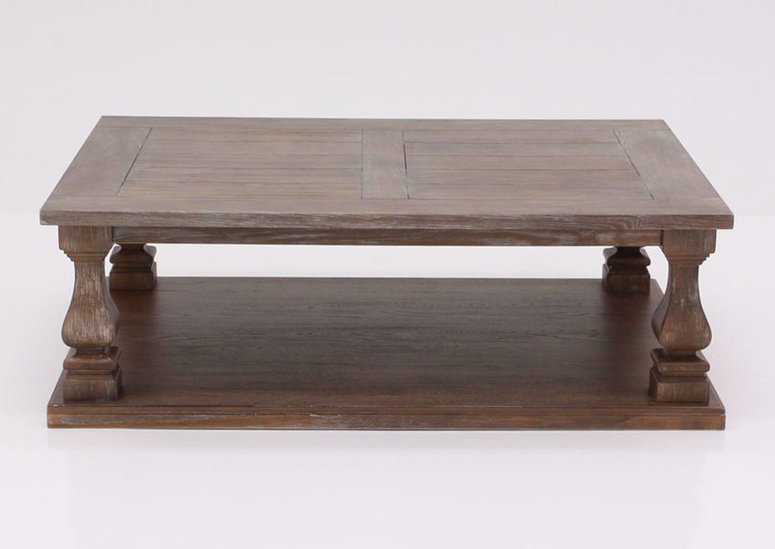 Johnelle Coffee Table by Ashley Furniture with a Weathered Gray and Brown Finish | Home Furniture Plus Mattress