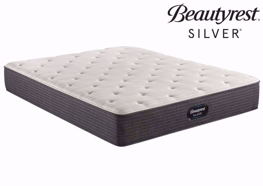 Twin Beautyrest Silver BRS900 Plush Mattress at an Angle | Home Furniture Plus Bedding