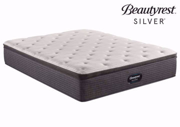 Twin Beautyrest Silver BRS900 Plush Pillow Top Mattress at an Angle | Home Furniture Plus Bedding