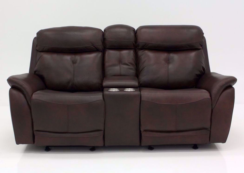 Brown Alpha POWER Glider Reclining Loveseat Front Facing | Home Furniture Plus Mattress | Home Furniture Plus Mattress