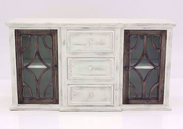 White and Brown Westgate Accent Cabinet, Facing Front | Home Furniture Plus Mattress
