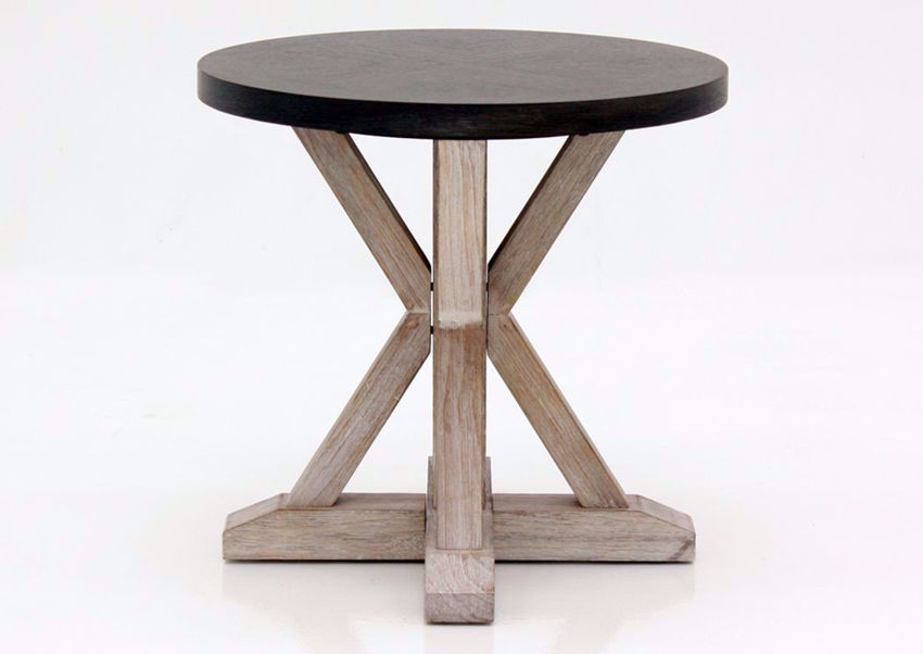 Brown Jefferson Round End Table Front Facing | Home Furniture Plus Mattress