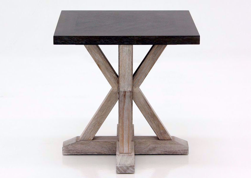 Brown Jefferson Square End Table Facing Front | Home Furniture Plus Mattress
