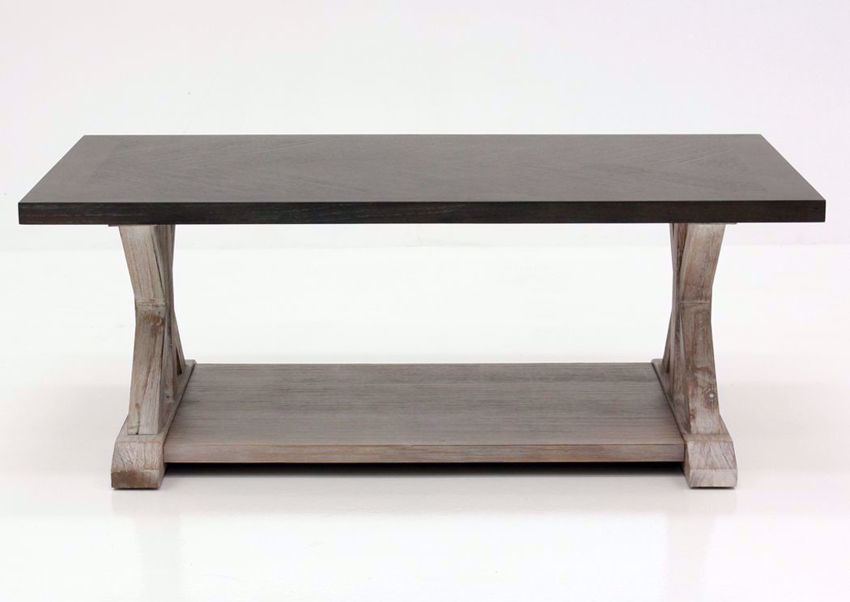 Brown Jefferson Coffee Table Facing Front | Home Furniture Plus Mattress