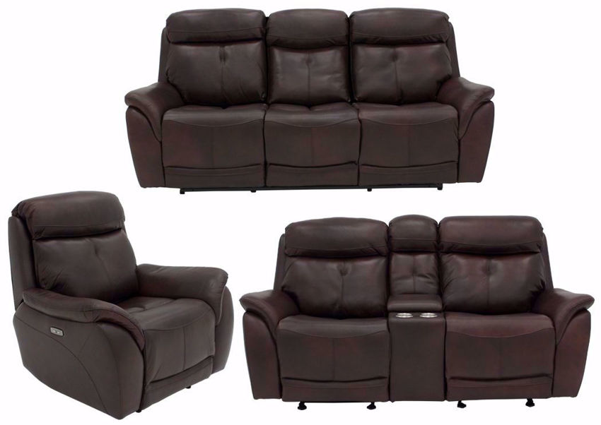 Alpha Brown POWER Reclining Living Room Set Including Sofa, Loveseat and Recliner | Home Furniture Plus Bedding