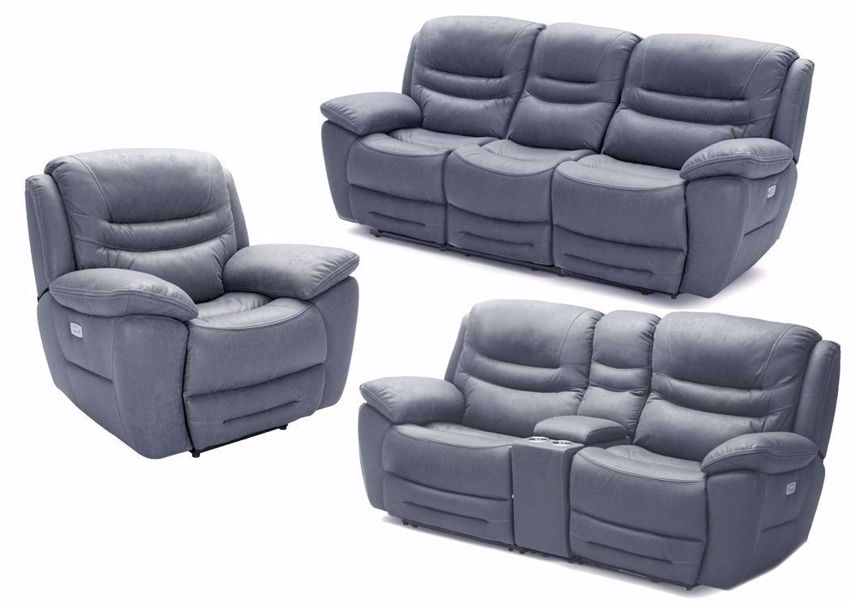 Gray Dakota POWER Reclining Sofa Set | Home Furniture Plus Bedding