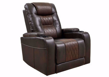 Brown Composer POWER Recliner by Ashley Furniture at an Angle | Home Furniture Plus Mattress