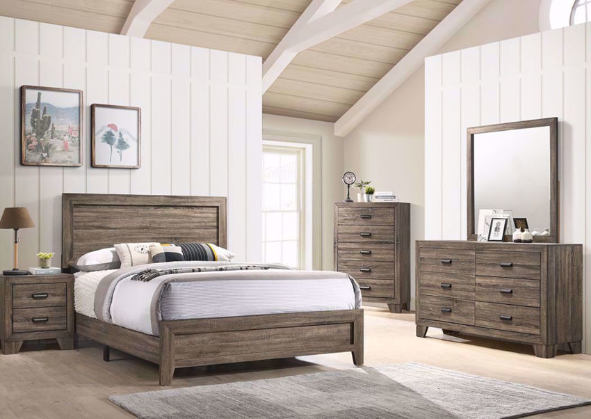 Millie Queen Size Bedroom Set Gray Home Furniture Plus Bedding