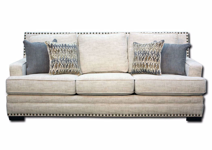Beige Symbio Cream Sofa by Albany, Front Facing | Home Furniture Plus Mattress