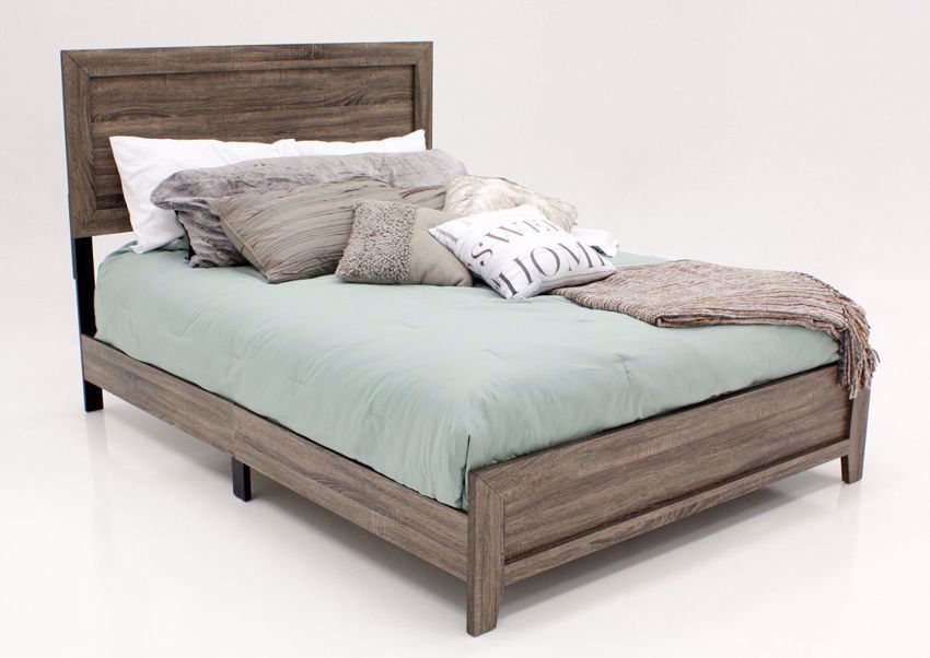Gray Millie Queen Bed at an Angle | Home Furniture Plus Mattress