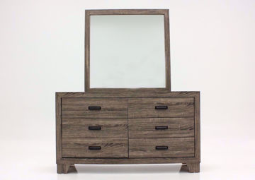 Gray Millie Dresser with Mirror Facing Front | Home Furniture Plus Mattress