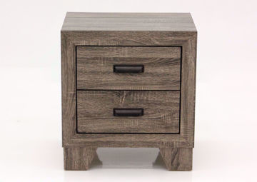 Gray Millie Nightstand Facing Front   Home Furniture Plus Mattress