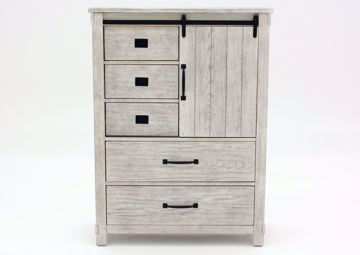 Distressed White Scott Chest of Drawers by Elements Facing Front | Home Furniture Plus Mattress
