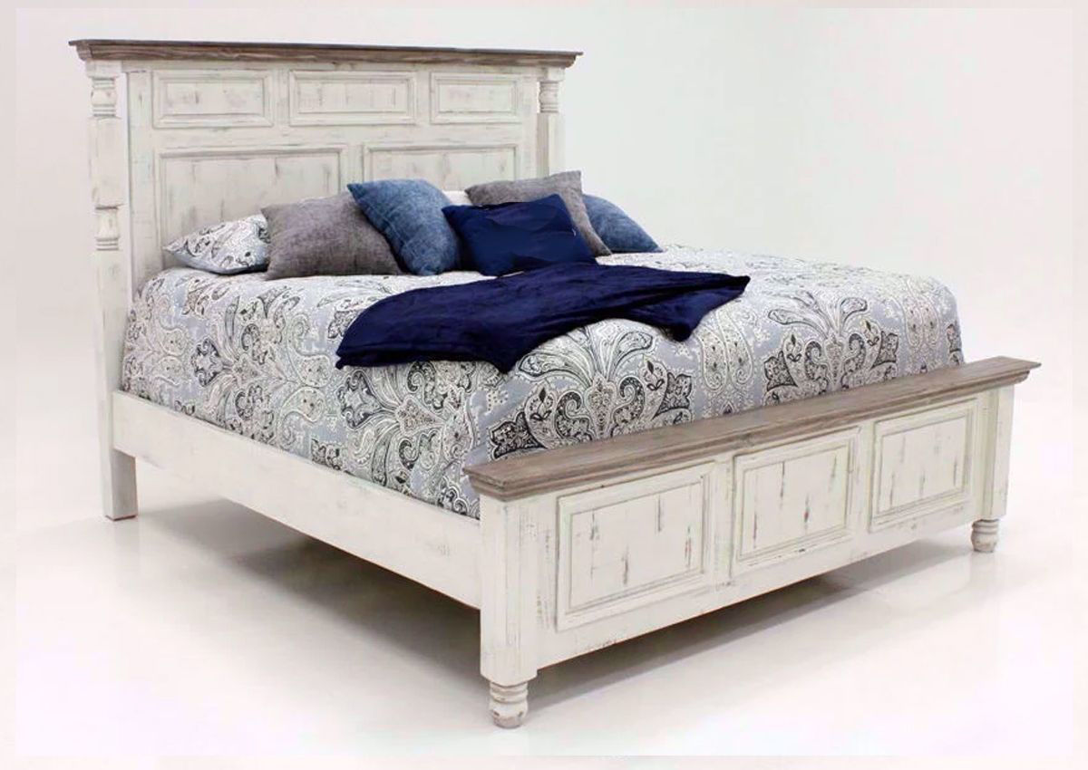 Martha Queen Size Bed White Home Furniture Plus Bedding