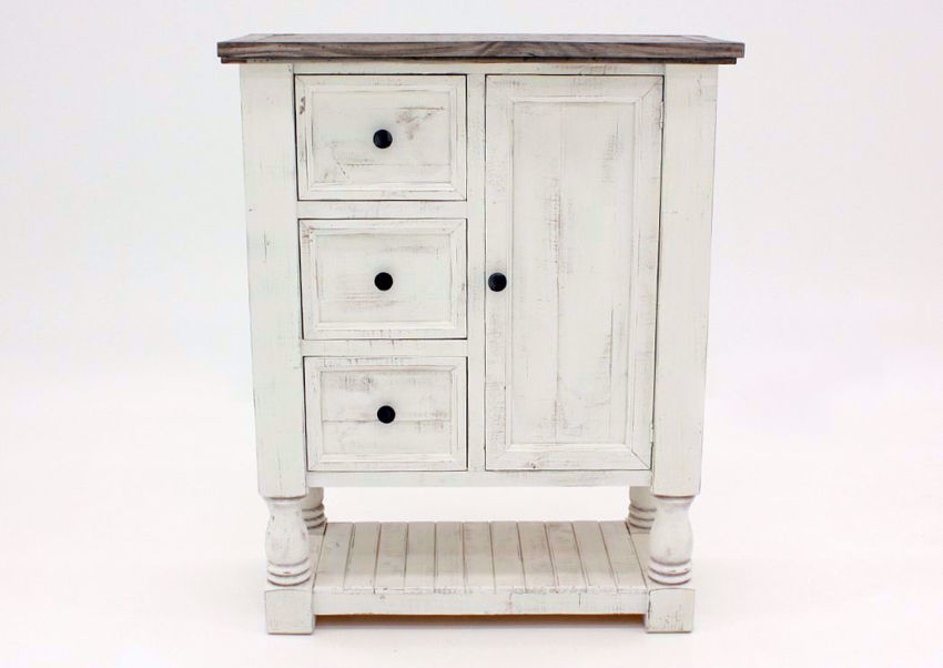 Rustic White Martha Chest by Vintage Furniture Facing Front | Home Furniture Plus Mattress