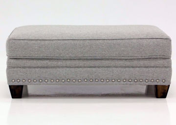 Light Gray Fletcher Ottoman by Franklin Facing Front | Home Furniture Plus Mattress