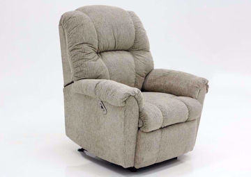 Tan Ruben Power Recliner by Franklin at an Angle | Home Furniture Plus Mattress