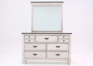 Off White Sawyer Dresser with Mirror by Crownmark Facing Front | Home Furniture Plus Mattress