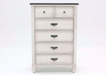 Off White Sawyer Chest of Drawers by Crownmark Facing Front | Home Furniture Plus Mattress