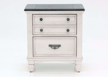 Off White Sawyer Nightstand by Crownmark Facing Front | Home Furniture Plus Mattress