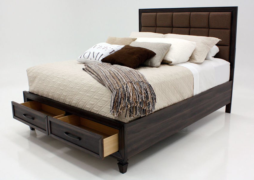 Dark Brown Gemini Queen Size by Intercon at an Angle | Home Furniture Plus Bedding