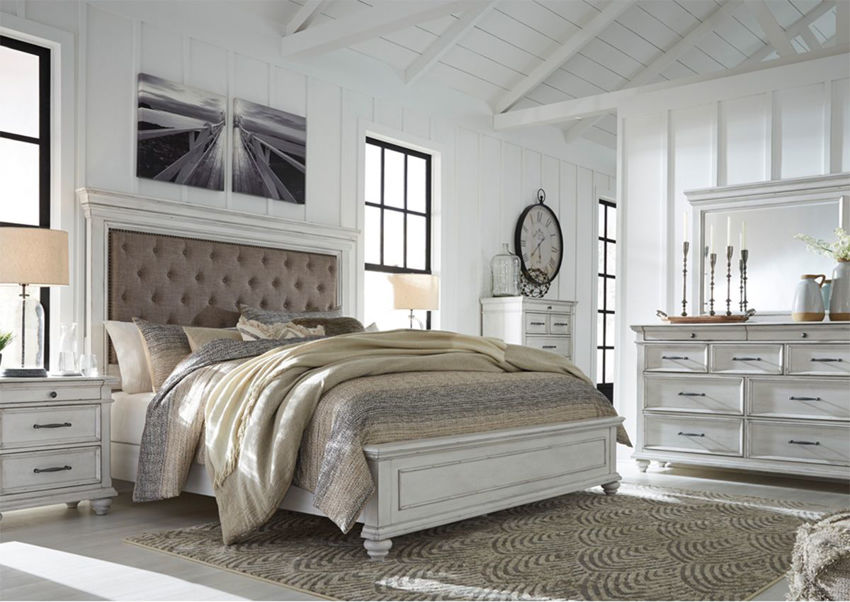 Picture of Kanwyn Queen Size Upholstered Bedroom Set - White
