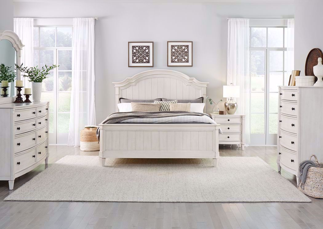 Mallory Queen Size Bedroom Set White Home Furniture Plus Bedding