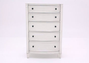 White Mallory Chest of Drawers by Standard Facing Front | Home Furniture Plus Mattress