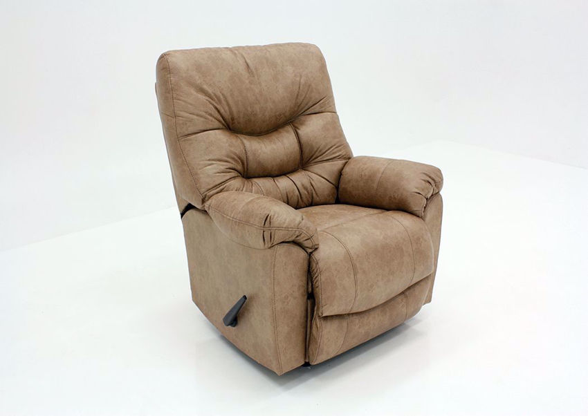 Brown Marshall Rocker Recliner by Franklin at an Angle | Home Furniture Plus Mattress