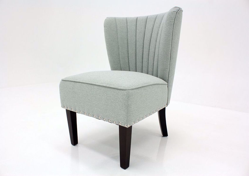 Clearwater Blue Emporium Accent Chair by Standard at an Angle | Home Furniture Plus Mattress