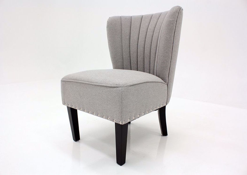 Light Gray Emporium Accent Chair by Standard at an Angle | Home Furniture Plus Mattress
