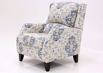 Blue-Multi Patterned Sabra Bluebell Accent Chair by Chairs America at an Angle | Home Furniture Plus Mattress